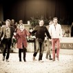 Celebrating success in Aachen, Germany at the All Nations Cup